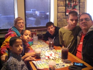 Ian's 16th Birthday dinner at Chili's 006