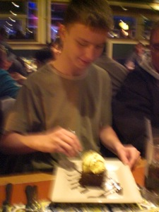 Ian's 16th Birthday dinner at Chili's 010