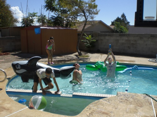 Pool Time at the Hortons 006