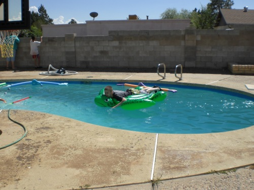 Pool Time at the Hortons 009