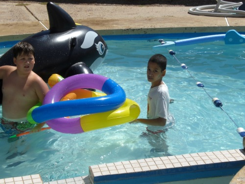 Pool Time at the Hortons 018