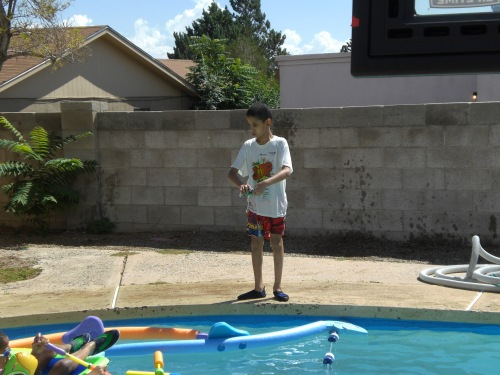 Pool Time at the Hortons 021