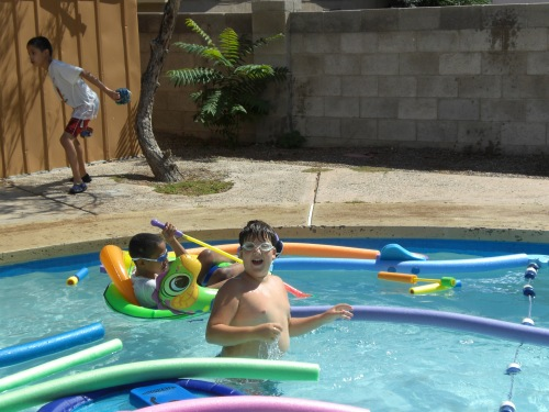 Pool Time at the Hortons 023