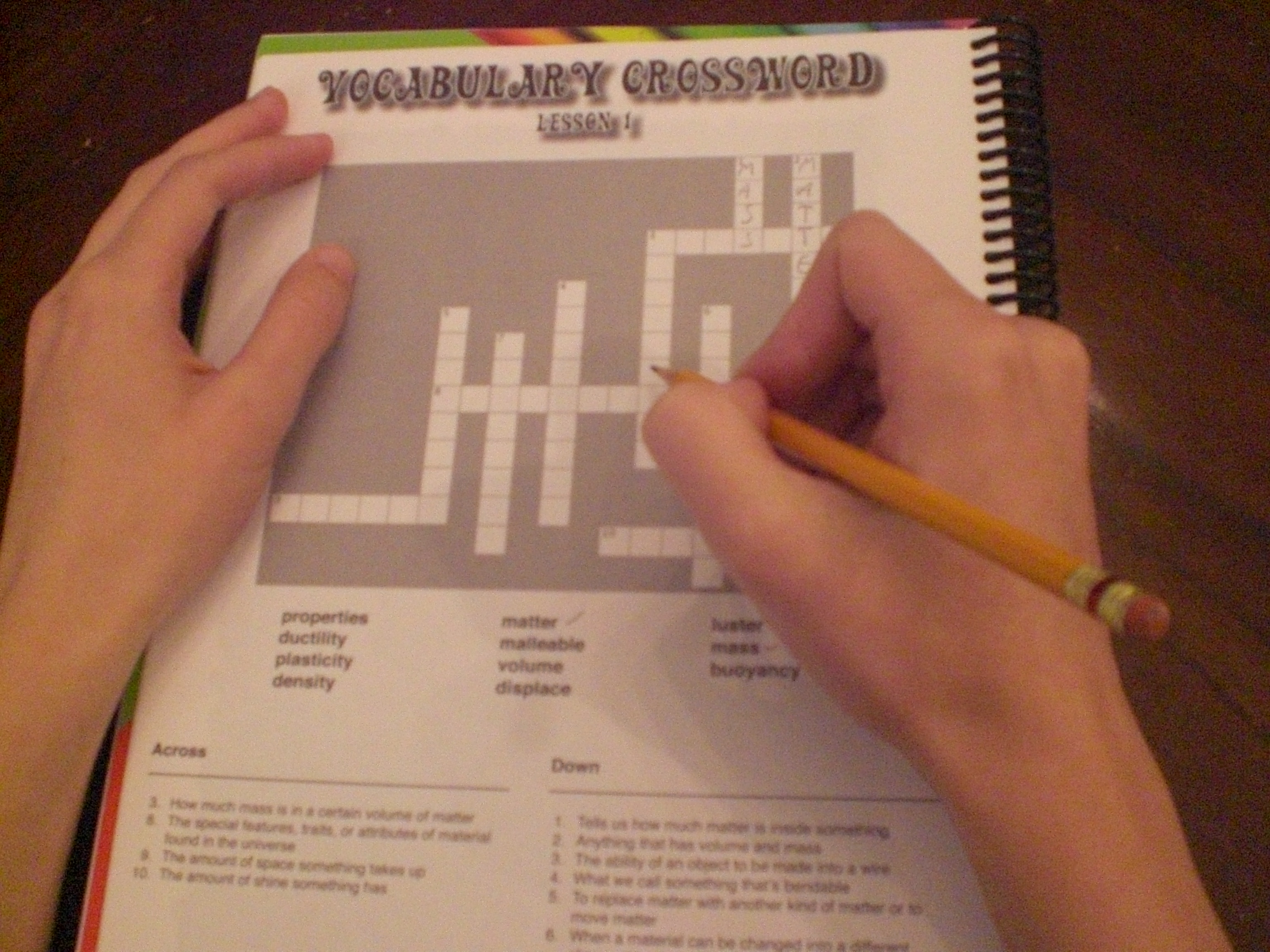"Managed to get of ""the artist"" beginning a crossword puzzle"